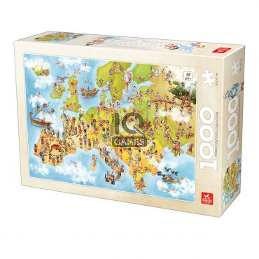 Puzzle Cartoon Map - Europe - 1000 Piese